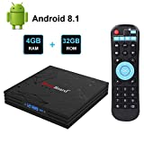 Greatlizard Android TV Box Android 8.1 Smart TV Box 4GB RAM 32GB ROM