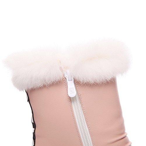 Calcanhar rosa Voguezone009 Do Pé Baixo Material Pontas Dedo Torno de Bota Macio Alta Senhoras Do Swqw46t