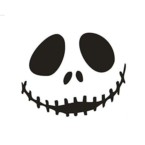 Gesicht Wandsticker für Halloween Abnehmbare Schwarz PVC Wandaufkleber Von Gesicht Fehlende Augen für Wohnzimmer, Schlafzimmer Oder Geschäft Fenster, Wandtattoo Serie size 35*45cm ()