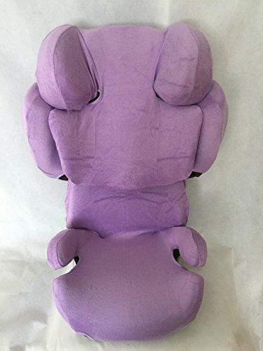 Sommerbezug Schonbezug für Cybex SOLUTION Z-Fix Frottee 100% Baumwolle lila