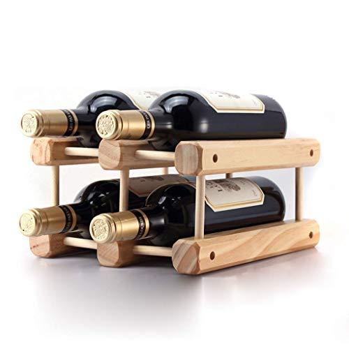 MHKJ Massivholz Weinregal Dekoration DIY Kreative Hölzernen Weinregal Kann Montiert Werden Display Rack Kiefer Multi-Flasche Weinregal -