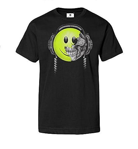 Bedrucktes Herren Streetwear T-Shirt mit Motiv Killing Beats (3XL, Schwarz)