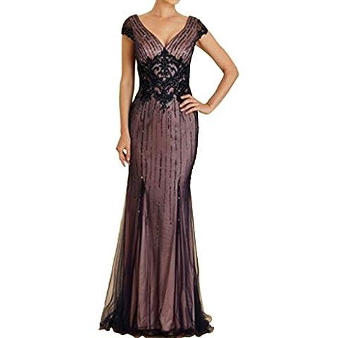 Charm novia marrón oscuro Madre de la novia de lentejuelas vestido de bola vestido de fiesta festival