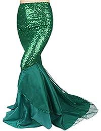 Moocare Mujer Accesorios Falda De Carnaval Faldas Lentejuelas Sirena Cosplay Largas Larga Vestido Brillantes qqH4r
