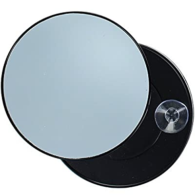 Pretty Magnifying Mirror 10X Enlargement with 2 Suction Cups - cheap UK light store.