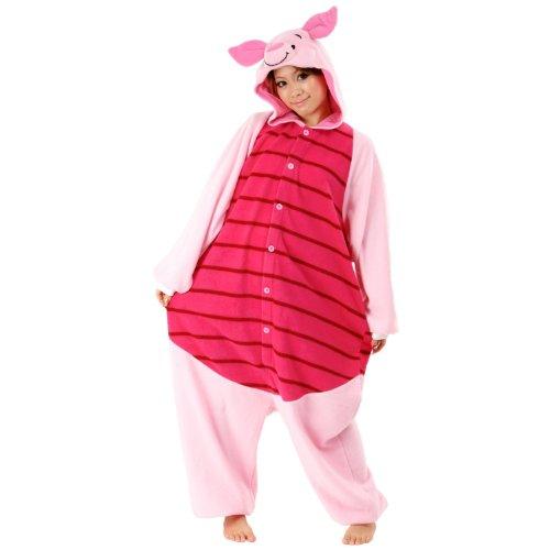 DISNEY 3- Japanische Pyjamas Kigurumi-- Kostüm für Erwachsene (Piglet - Ferkel) (Disney Schlafanzug Erwachsene)