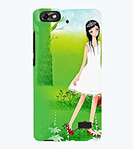 Printvisa Premium Back Cover Girl With A Violen In A Forest Design For Huawei Honor 4C::Huawei G Play Mini