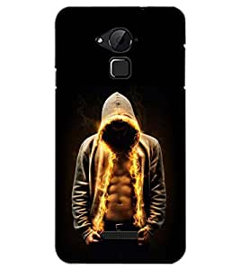 PrintDhaba FIRE MAN D-6989 Back Case Cover for COOLPAD NOTE 3 LITE (Multi-Coloured)