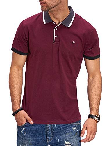 JACK & JONES Herren Poloshirt Polohemd Kurzarmshirt Shirt Top Business Hemd (XL, Port Royale)
