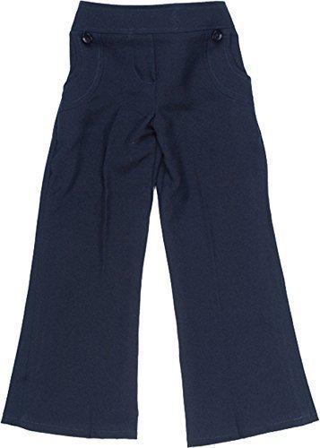 Marine-blau-uniform Hose (Schuluniform Mädchen Elastische rückseitige 2 Knöpfen Hosen Only Uniform® UK - Marine, 13-14 Years)