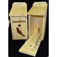 Vogelhaus Schnapsbar Garten Geschenk Zwitscherkasten mit Vogelmotiv