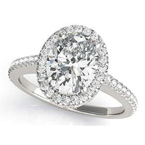 Damen Eheringe Verlobungsring Solitär Diamant 1,50 Karat Gelb-Weiß-Rose 14 Karat (750) Echtgold Größe P Q L K M N