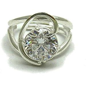 Sterling silber ring mit 10mm KZ 925 Empress Einstellbare Größe