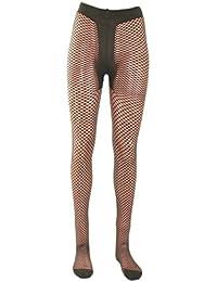 Damen Netzstrumpfhose mit T-Band, Farben alle:19 dunkelgrün;Größe:L