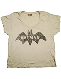 Junk Food Batman DC Comics Logo Originals Vintage Style Soft Scoop Jrs T-Shirt