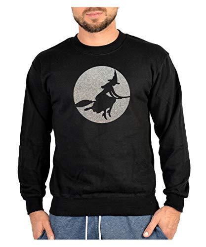 Halloween - Sweatshirt - Sweater - Witch Glitter - Farbe: schwarz - in den Größen: S, M, L, XL, XXL, ()