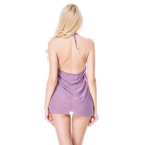 Gemini_mall -  Camicia da notte  - Donna Purple