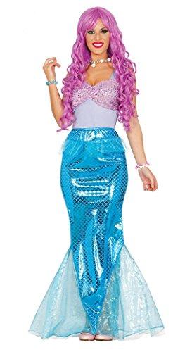 Fiestas guirca costume da sirena donna sirenetta