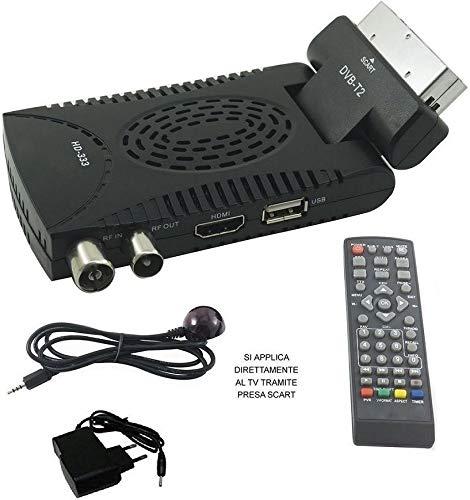 Mini-décodeur numérique terrestre HD DVB-T2Péritel 180USB HDMI 333