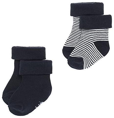 Noppies Baby - Jungen Socks 2Pck Guzz, Einfarbig, Gr. Neugeborene (Herstellergröße: 0M-3M), Blau (Navy C166)