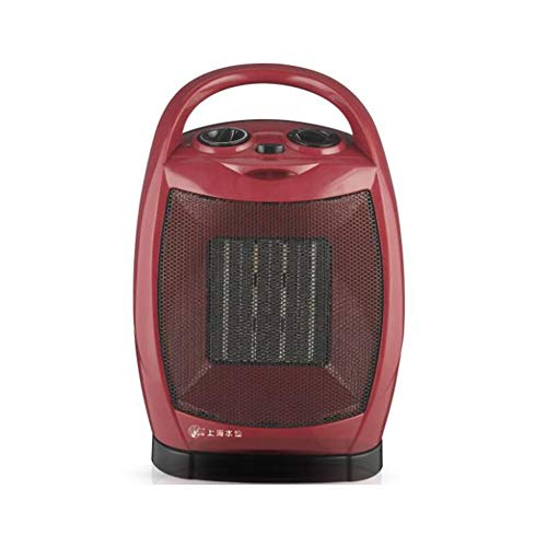 Radiateurs électriques CJC Électrique Chaufferettes 1500W 750W PTC Céramique Ventilateur 2 Chaleur Réglages Cool Ventilateur Réglage Portable (Couleur : Red)