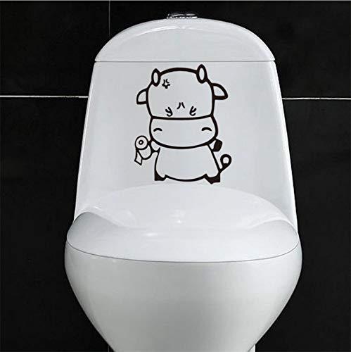 WFYY Cute Animal Decals WC Aufkleber Klassische Wanddekorationszubehör -