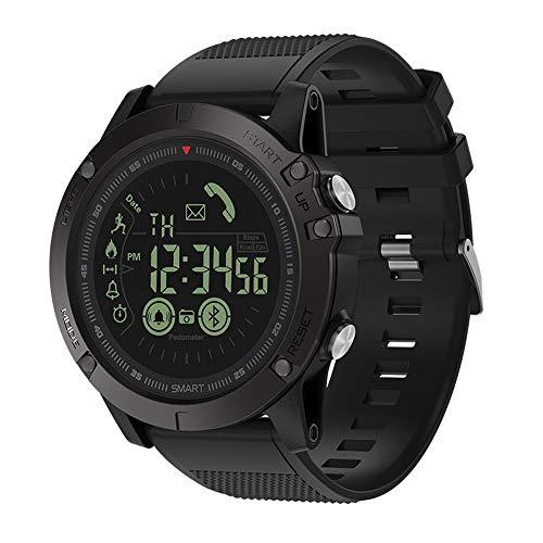 samLIKE Smartwatch für Herren und Damen Bluetooth Sportuhr Whatsapp Fitness Uhr 丨 Schrittzähler 丨 Remote-Kamera 丨 Anruferinnerung 丨 Kalorienzähler 丨 Nachricht Benachrichtigung (Schwarz)