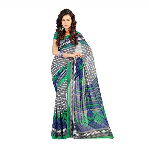 Shaktideal Dailywear light weight printed sarees red and grey