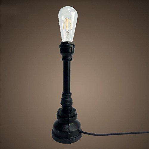 SHDT Neue Nostalgische industrielle Wasserpfeife E27 Edison Tischlampe Nachttischlampe Lesen neben Schlafzimmer Cafe Home Bar Schlafzimmer Dekor , 1