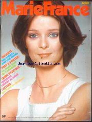 MARIE FRANCE [No 270] du 01/08/1978 - NOS ENFANTS SONT MAL ELEVES - PRET A PORTER - COMMENT CUISINER AU SOLEIL LECTURE. par Collectif