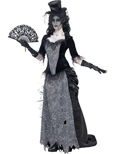 Smiffys Damen Kostüm Geister Zombie Halloween Steampunk Vampirin Gr.L