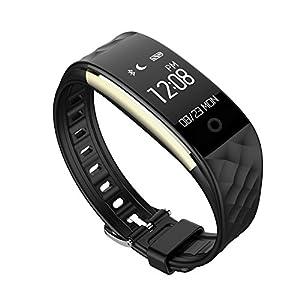 Miavogo S2 Pulsera Inteligente Pulsera Deportiva Inteligente Pulsera Actividad (Ritmo Cardíaco Pulsera Deportes Rastreador de Ejercicios Calidad del Sueño Monitor de Llamada / SMS Recordatorio IP67) Smartband Reloj para Android IOS (Negro)
