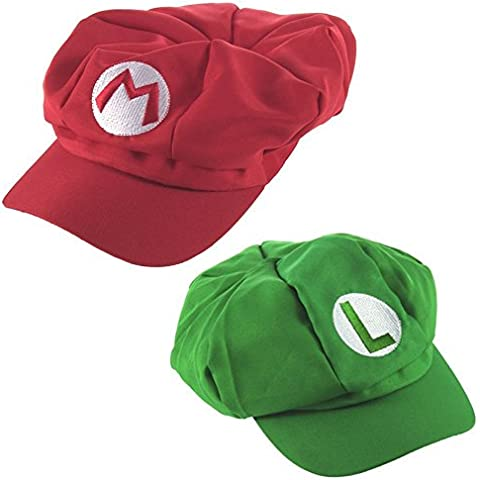 Katara Super Mario Set Cappello da Mario e Luigi per