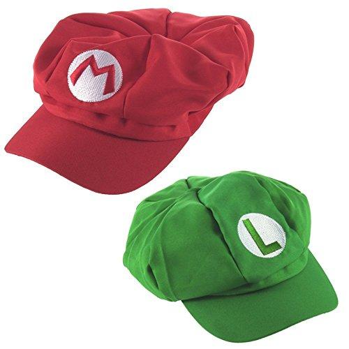 Preisvergleich Produktbild Katara 2er Super Mario Mützen Set Mario und Luigi für Erwachsene oder Kinder