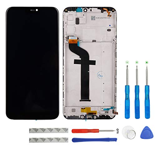 swark LCD Display Compatible with Xiaomi Mi A2 Lite/Redmi 6 Pro Schwarz Touchscreen Bildschirm Digitizer Assembly Glas + Rahmen+Tools (Glas Tools)