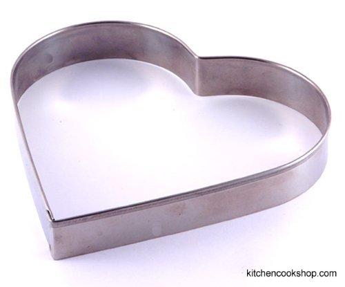 Ausstechform für Plätzchen - Edelstahl - Herz - 12 cm