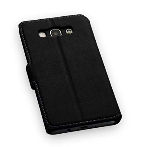 Image of 'Elegant Book-Style Mobile Phone Flip Case Black for Samsung Galaxy J1 (2016) Mobile Phone Protective Wallet Book Case Cover for