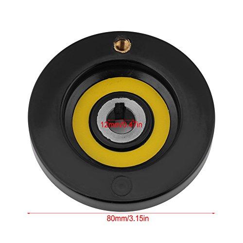41CcTRVgnNL - 1 Unids Negro Torno Fresadora Rueda de Mano de Ondulación Trasera con Manija Giratoria(12 * 80mm)