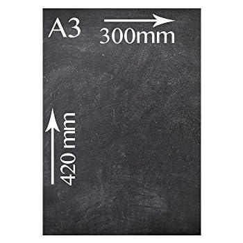 Kreidetafeln UK doppelseitig schwarz 60/x 42/x 0,5/cm Holz