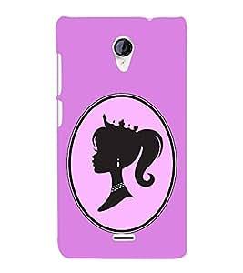 Fiobs Designer Back Case Cover for Micromax Unite 2 A106 :: Micromax A106 Unite 2 (Fashion Girl Girly Violet)