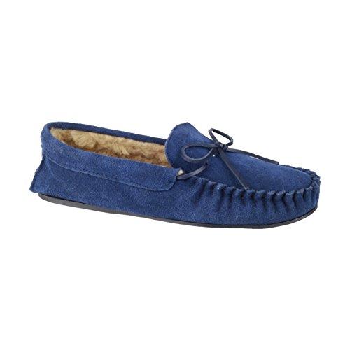 Mirak Dakota 2015 Herren Pantoffeln / Hausschuhe Marineblau