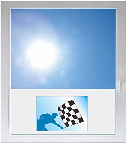 INDIGOS UG Folie - Sichtschutzfolie Sonnenschutz Glasdekorfolie / Glasdekor Fensterfolie mit Motiv satiniert blickdicht - GMF0583 - Buchstabe Liebe Rennen - 1150 m Länge - 500 m Höhe Rennen-auto-dekorationen