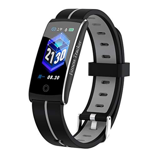 HHRONG Fitness Tracker, Farb Bildschirm Smart-Armband, Pedometer-Uhr und Sleep-Monitor-Kalorie Männer und Frauen-Grey Farb-multifunktions-navigations-display