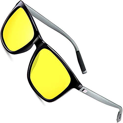 wearPro Polarisierte Fahren Sonnenbrille Herren männer Al-Mg Metall Rahme Ultra Leicht WP1003 (Yellow, 2.16)