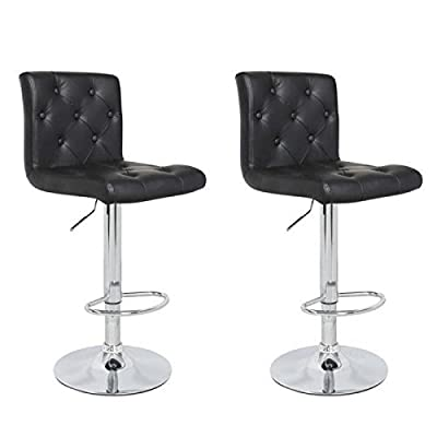 Chester Black Breakfast Kitchen Barstool Bar Stool x 2
