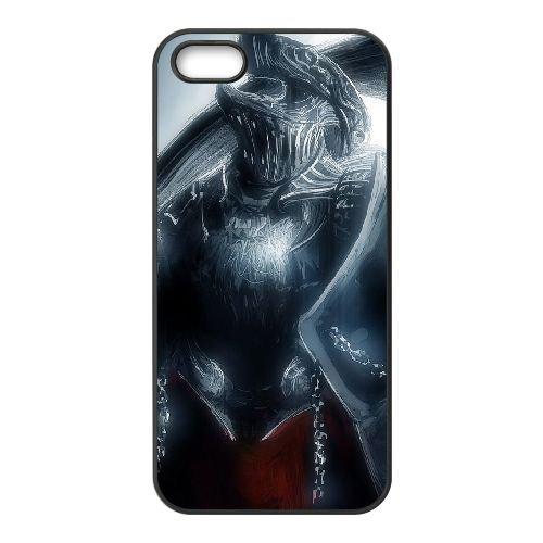 Dark Souls coque iPhone 5 5S Housse téléphone Noir de couverture de cas coque EBDXJKNBO15184