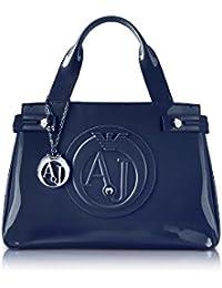 Armani Jeans Mujer 922526CC85500035 Azul Pvc Bolso De Mano