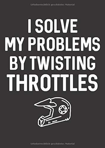 Mein Motorrad Tourenbuch: Dein persönliches Reisetagebuch für Motorrad Touren und Motorrad Reisen ♦ für über 100 Touren ♦ Großzügiges A4 Format ♦ Motiv: Solve my problems - Helm - Abenteuer Motorrad-helm