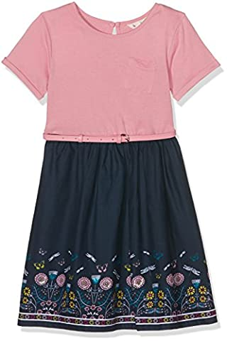 Uttam Boutique Dragonfly Border, Robe Fille, Pink (Dusty Pink), 11-12 Ans