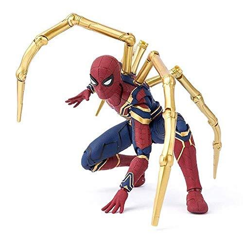 Iron Zu Kostüm Mann Machen - MA SOSER Iron Spiderman Avengers Unendlicher Krieg Action Character Collection Modell Spielzeug - 16CM